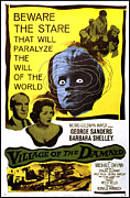 Classic Sf Posters Framed Prints - Village Of The Damned, George Sanders Framed Print by Everett