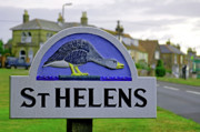 England Posters - Village Sign - St Helens Poster by Rod Johnson
