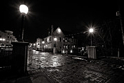 Night Cafe Photo Prints - Village Walk Print by CJ Schmit