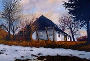 Amalia Suruceanu Art - Village Winter Street