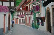 Europe Pastels - Village by Zlata  Bajramovic