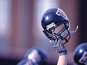 Athletic Photos - Villanova Helmet by Jerry Millevoi