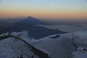 Villarrica, Summit View With Shadow Print by Martin Rietze