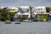 Homes Posters - Villas on the Shore Hamilton Bermuda Poster by George Oze