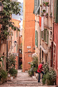 Backstreets Prints - Villefranche morning Print by Shari Whittaker