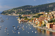 Villefranche Framed Prints - Villefranche-sur-mer On The Riviera Coast Framed Print by Cornelia Doerr