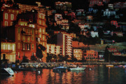 Seacoast Digital Art Prints - Villefranche sur mer Print by Tom Prendergast