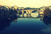 South West France Metal Prints - Villeneuve sur Lots River Metal Print by Georgia Fowler