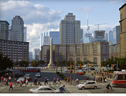 Toronto Digital Art - Vimy Circle Toronto by Mathew Borrett