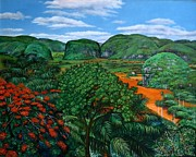 Del Rio Paintings - Vinales Valley. View from Los Jazmines Motel by Miguel Alfaro