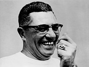 Leagues Photo Prints - Vince Lombardi 1913-1970, Coach Print by Everett