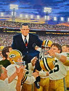 Green Bay Packers Mixed Media - Vince Lombardi by Cliff Spohn