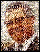 Vince Lombardi Prints - Vince Lombardi Green Bay Packers Mosaic Print by Paul Van Scott