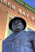 Lambeau Field Metal Prints - Vince Lombardi Metal Print by Joel Witmeyer
