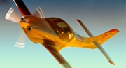 Sports Digital Art Originals - Vince Walker and Lancair Legacy Race 2 Modo Mio 2010 Reno Air Races by Gus McCrea