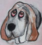 Puppy Pastels - Vincent the Dog by Janel Bragg