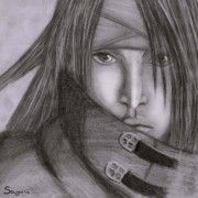 Final Drawings - Vincent. Valentine. Final Fantasy VII by Sandra Geis