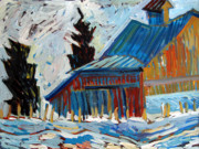 Van Gogh Painting Originals - Vincents Barn by Charlie Spear