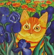 Anni Morris Art - Vincents Cat by Anni Morris