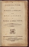 Firsts Posters - Vindication Of The Rights Of Women With Poster by Everett