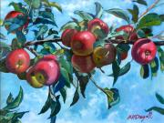 Orchards Painting Prints - Vine Apples Print by Michael McDougall