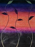 Elegant Pastels Originals - Vines by Zlata  Bajramovic