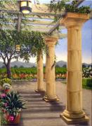 Napa Valley Vineyard Paintings - Vineyard Garden by Patrick ORourke