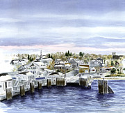 Vineyard Haven Prints - Vineyard Haven Winter Print by Paul Gardner