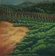 Napa Pastels - Vineyard by JEAN DeLaO