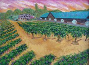 Scott Phillips Art - Vineyard Sunset by Scott Phillips
