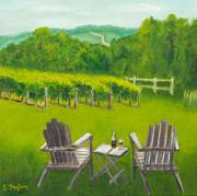 Vineyards Of Sogn Valley Print by Susan Fuglem