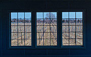 Vineyards Photos - Vineyards Through The Window by Linda Pulvermacher