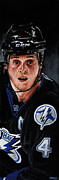 Bolts Paintings - Vinny Lecavalier by Marlon Huynh