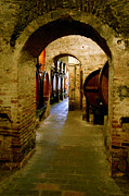 Cellar Digital Art Prints - Vino de Toscana Print by John Galbo