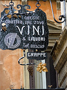 Entrance Door Framed Prints - Vino in Venice Framed Print by Mindy Newman