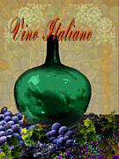 Wine Cellar Framed Prints - Vino Italiano #2 of 4 Framed Print by Tony Marquez