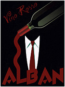 Vintage Advertising Posters - Vino Rosso  Poster by Cinema Photography