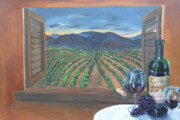 Winery Paintings - Vino by Travis Day