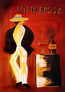 Vino Mixed Media Posters - Vinorosso Poster by Helmut Rottler