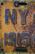 Nyc Mixed Media - Vintagae NY Sign  by Anahi DeCanio