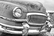 Ambassador Prints - Vintage 1951 Nash Ambassador Front End 2 BW Print by James Bo Insogna