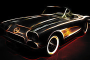 Vintage 1956 Corvette Print by Wingsdomain Art and Photography