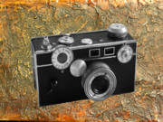 Rangefinder Posters - Vintage 35mm rangefinder camera Poster by Kenneth William Caleno