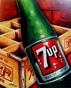 Terry J Marks Sr - Vintage 7up Bottle