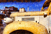 Truck Digital Art - Vintage America . Old Dodge Truck At The Old C and H Sugar Plant . Painterly . 5D16786 by Wingsdomain Art and Photography