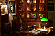 Medical Photos - Vintage Apothecary Shop by Olivier Le Queinec