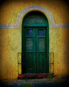 Old San Juan Framed Prints - Vintage Arched Door Framed Print by Perry Webster