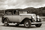 Ancient Photos - Vintage Automobile on Dirt Road by Olivier Le Queinec