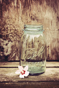 Mason Framed Prints - Vintage Ball Mason Jar Framed Print by Terry DeLuco