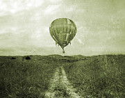 Vmi Framed Prints - Vintage Ballooning Framed Print by East Coast Barrier Islands Betsy A Cutler